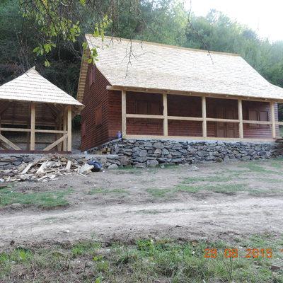 Construción de casa de madera