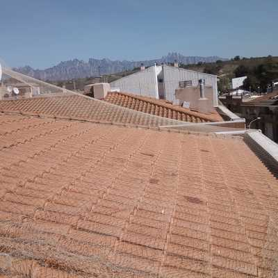 Control de aves/Palomas/Colocación de malla en tejado