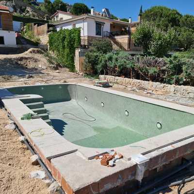 Construcciòn piscina Miraflores Madrid