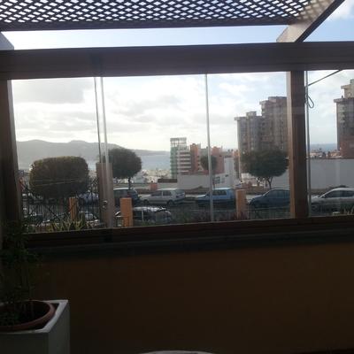 Cortina de cristal en Las Palmas