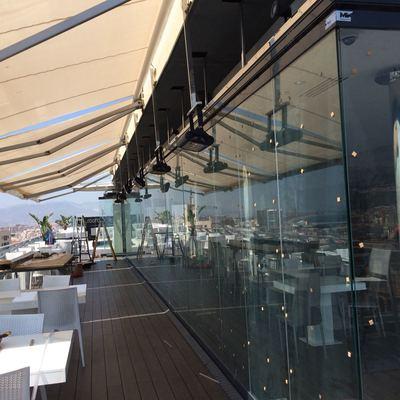 Terraza Restaurante ático Hotel AC Málaga Palacio