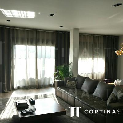 Instalación cortinas en salón