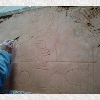 Creación de mural, diseño en molde