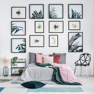 Guía para decorar con cuadros las paredes de tu casa