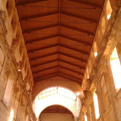Cubierta de la Iglesia del Santuario de la Vall de Crist en Altura, Castellón