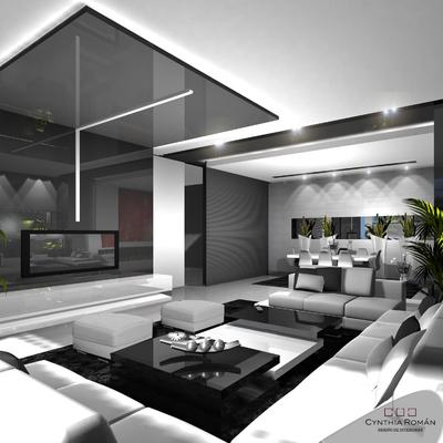 Cynthia Román (Diseño de Interior) Interiorismo de vivienda particular