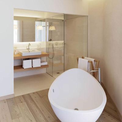Dar protagonismo a un lavabo...la bañera.