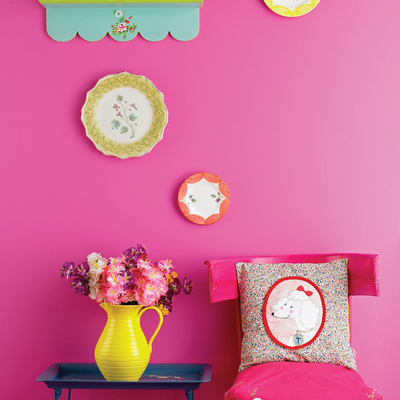 pared rosa