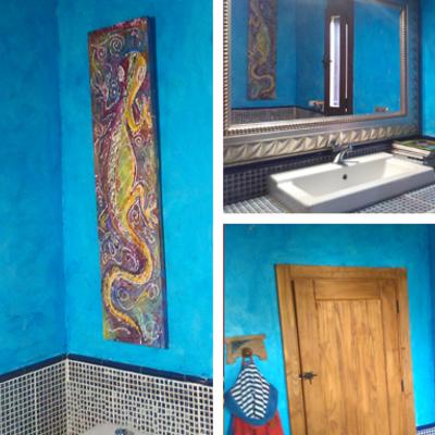 Pintura decorativa para baño