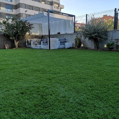 Decoración global de jardín con césped artificial DIAMANTE PLUS 60mm
