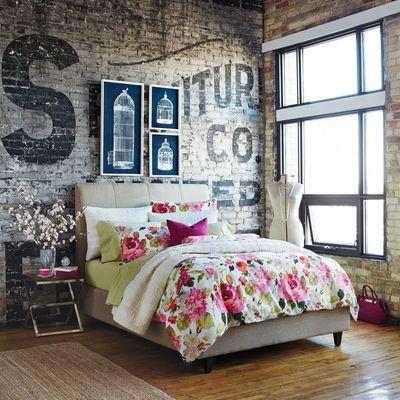 Dormitorio industrial y romántico