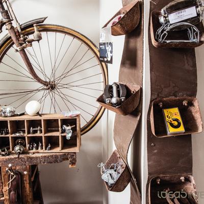 Una tienda de bicicletas con sabor vintage