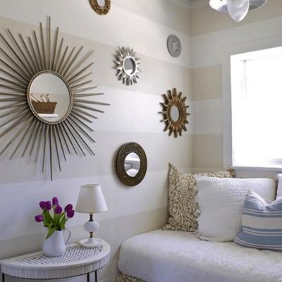 decorar con espejos vintage