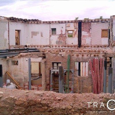 Demolición de edificio en Sigüenza (Guadalajara)
