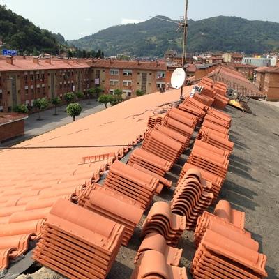 Rehabilitación de tejado en Mieres