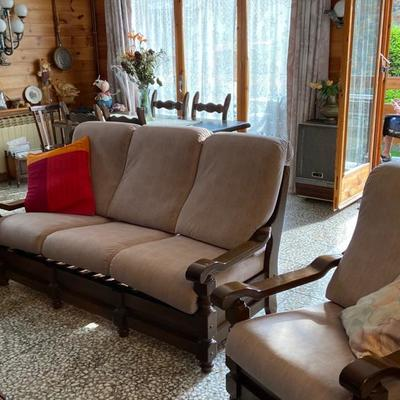 Realizar fundas cojines para un sofá de tres plazas y un sillón
