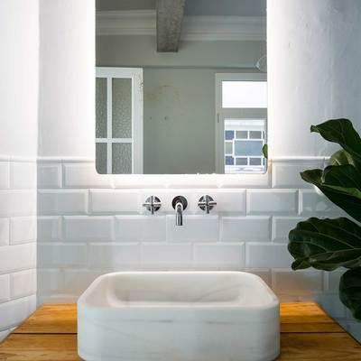 Detalle baño encimera