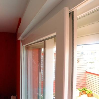 Detalle de carpintería de PVC.
