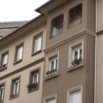 Reforma de fachada en Loiola, Donostia