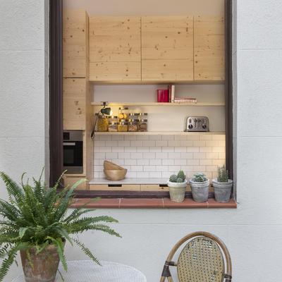 Detalle de la cocina des del jardín
