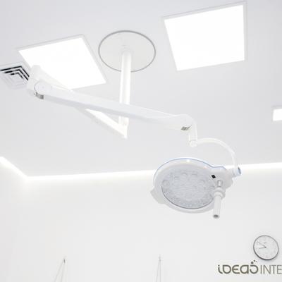 Detalle iluminación sala de injertos capilares