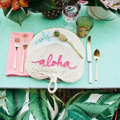 Detalle para mesa hawaiana