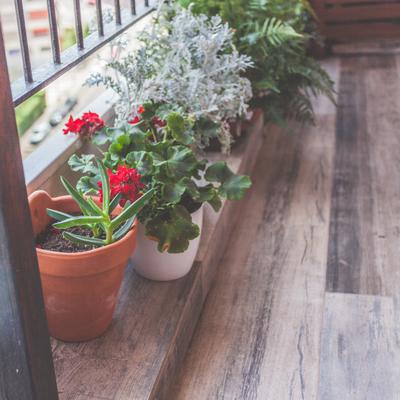 Detalle suelo terraza