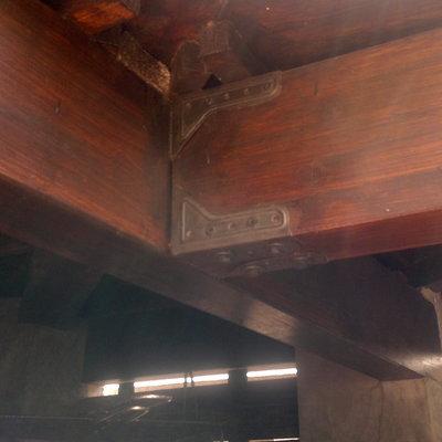 detalle vigas tejado barbacoa