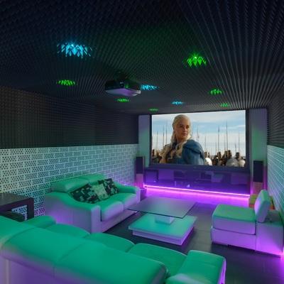 Diferentes ambientes en la sala de cine