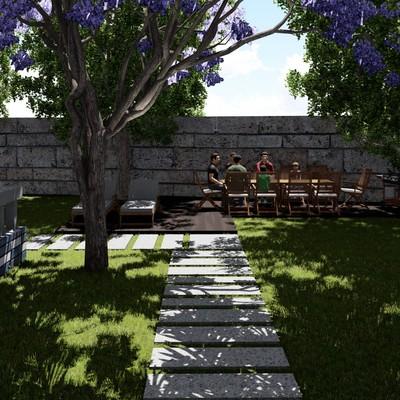 Diseño jardin Baiona