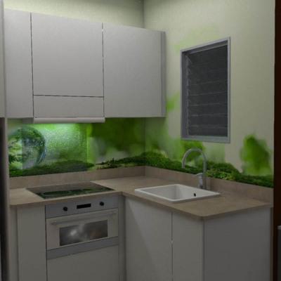 Diseño cocina abierta.