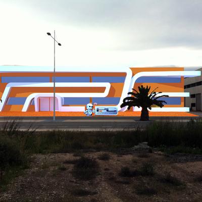 "Diseño Arquitectura Exterior ""Fachada"" Para Nave Industrial"