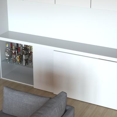 Diseño mueble comedor Blanco