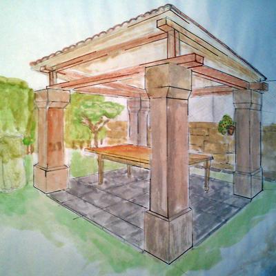 Construcción de Cenador Para Jardin.
