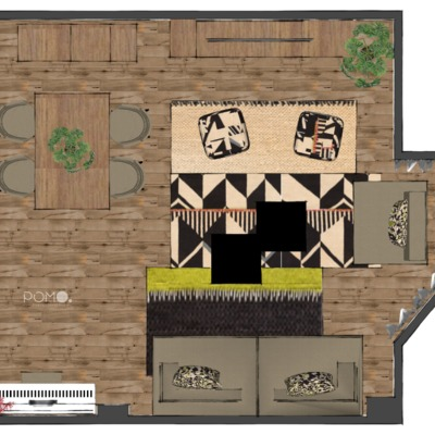 Diseño Online. Salón familiar en Hortaleza