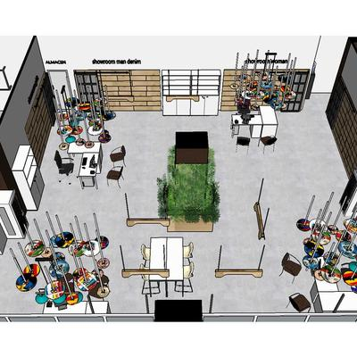 Diseño de oficinas de un distribuidora textil