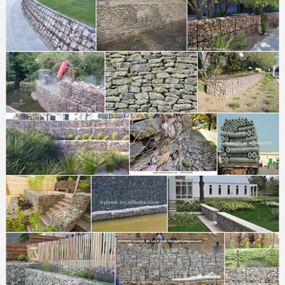 Muros de soporte y cierre de terrenos de piedra