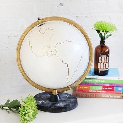 DIY globo terráqueo vintage