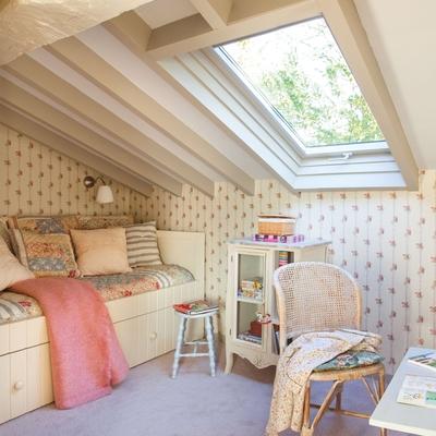 La belleza de los dormitorios abuhardillados