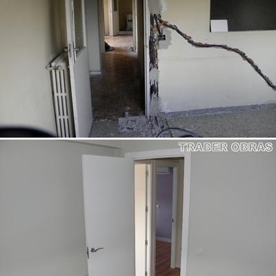 Dormitorio antes y después.
