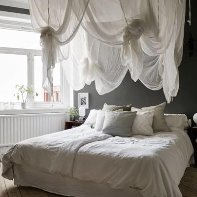 Dormitorio balnco y negro