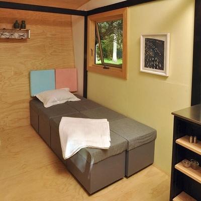 Dormitorio casa madera