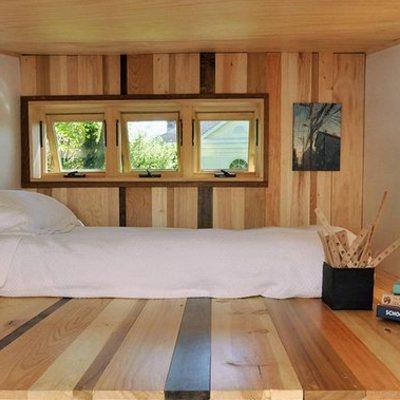 Dormitorio casa móvil madera
