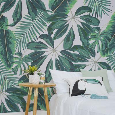 Dale un toque tropical a tu casa con estos papeles pintados