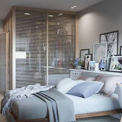 Dormitorio con vestidor integrado