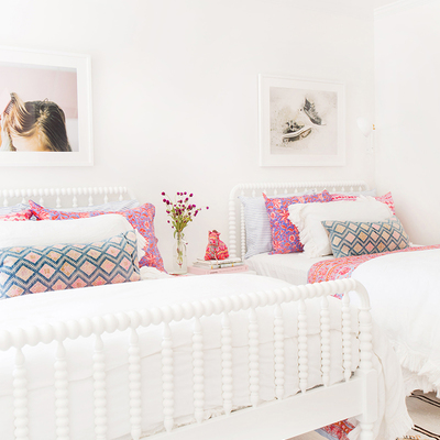 Dormitorio de estilo boho