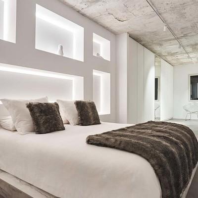 Dormitorio de estilo minimalista