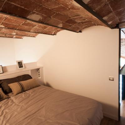dormitorio en altillo metálico