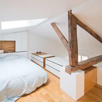 Una casa fresca y despejada... en una buhardilla