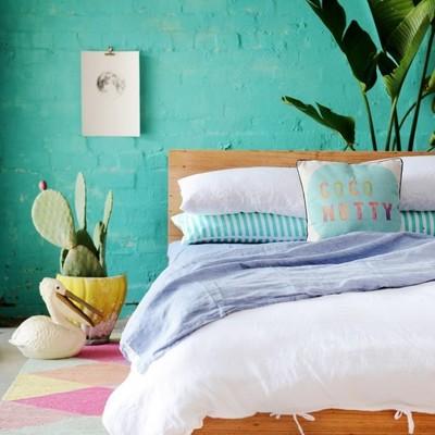 dormitorio estilo tropical